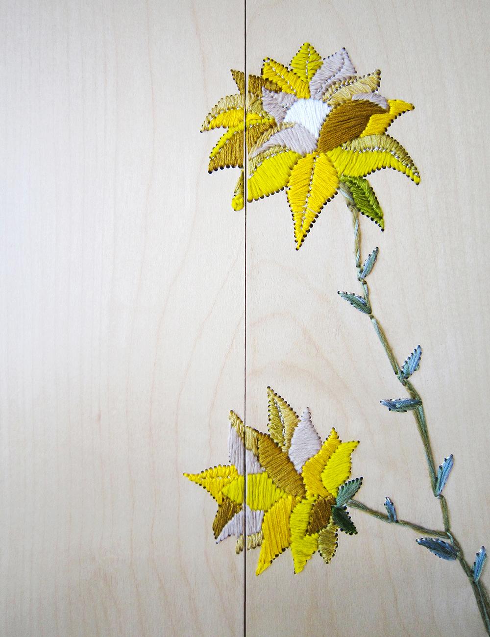 Célèbre Embroidery on wood : a new technique by Aurelie Wozniak AK97