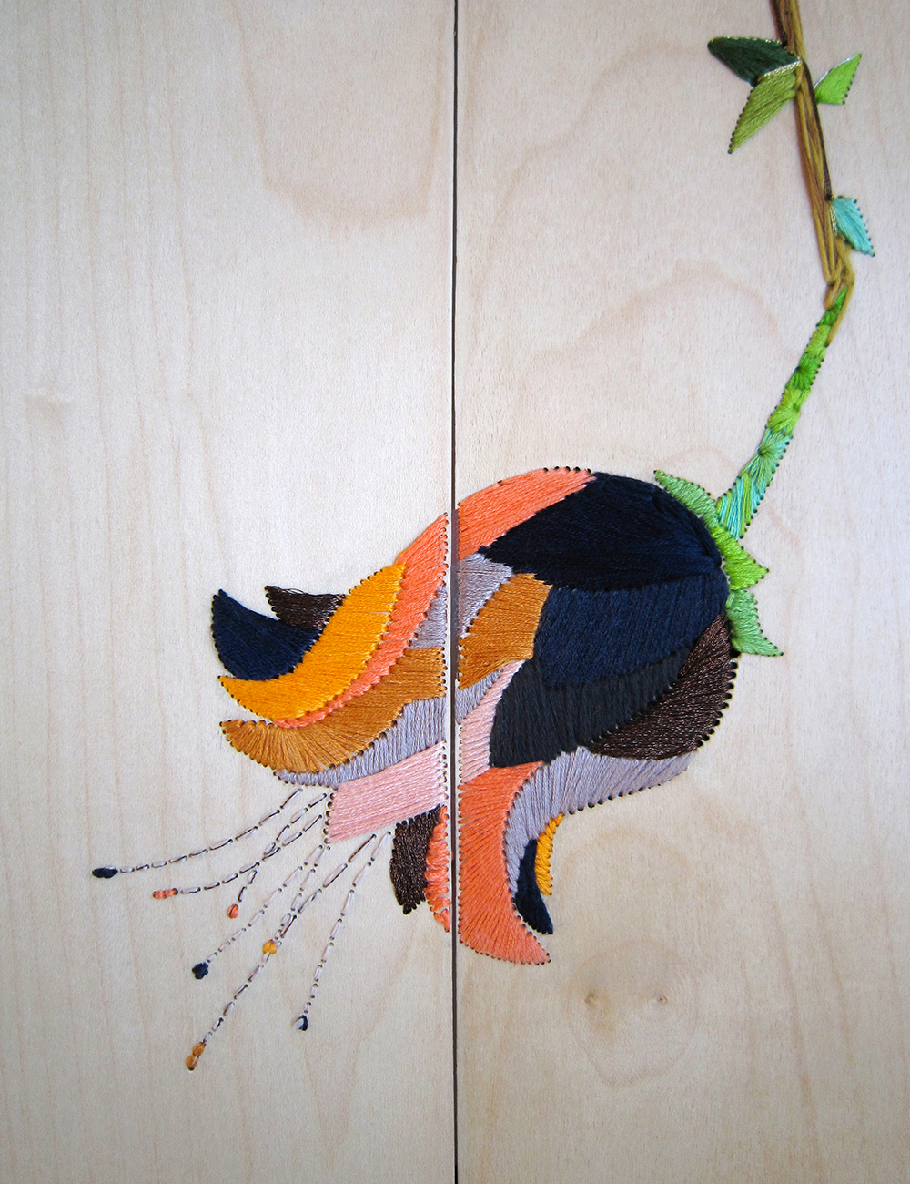 Célèbre Embroidery on wood : a new technique by Aurelie Wozniak AK97